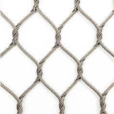 Wear Resisting Stainless Steel Woven Mesh Nonflammable For Animal Enclosure