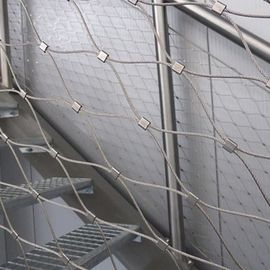 304/316 Sliver Stainless Steel Fence Mesh Easy Maintenance for Stair protection